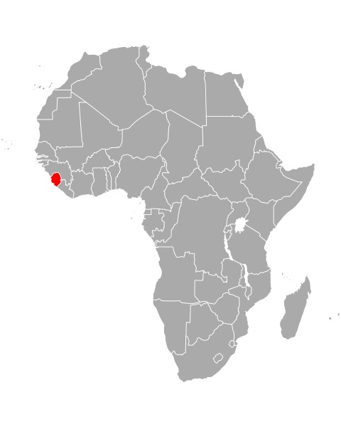 map of sierra leone in africa