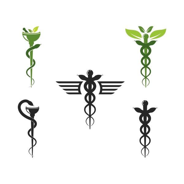 medical snake vector icon illustration
