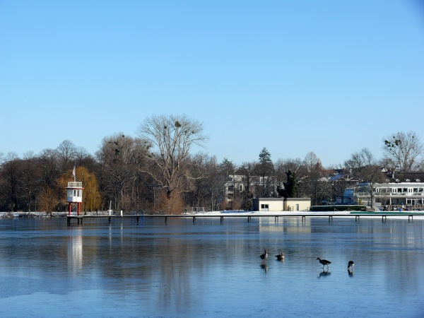 lake maschsee in hannover in the