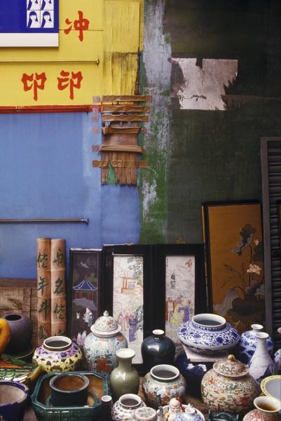 display of ceramics souvenirs hong kong