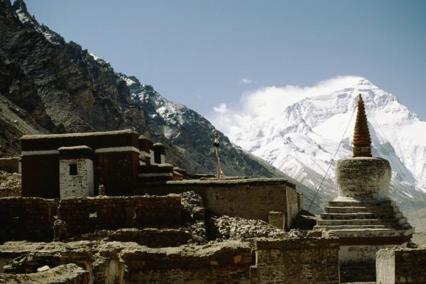 monastery on a mountain rongbuk monastery