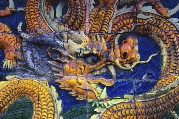close up of a chinese dragon