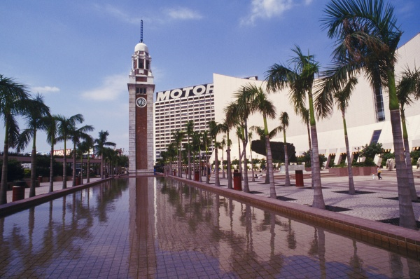 clock tower in front of a