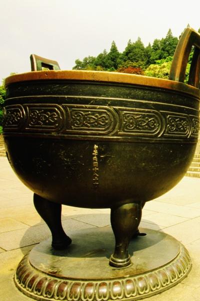 close up of a decorative urn