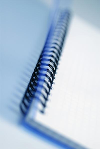 close up of a spiral notebook