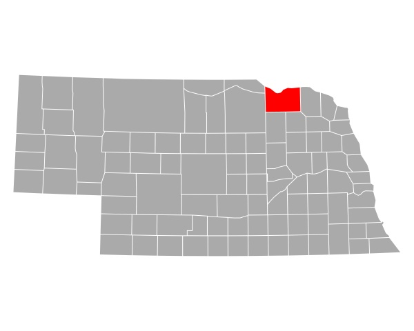 map of knox in nebraska