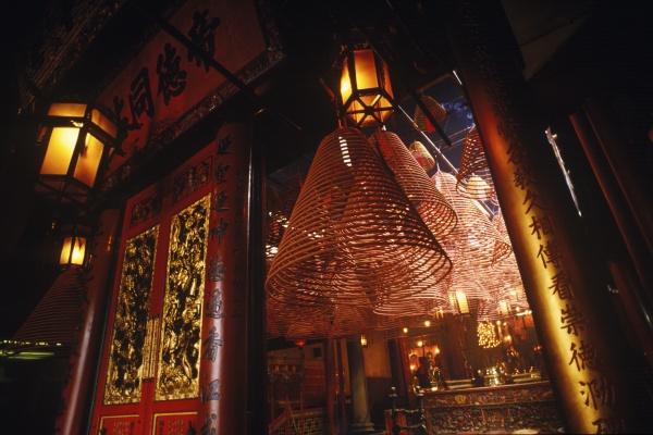 lanterns in a temple man mo