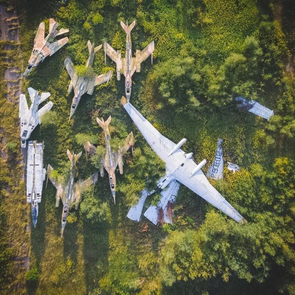 abandoned warplanes old airfield
