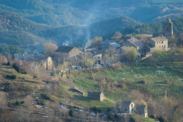 village of bestue in the pyrenees