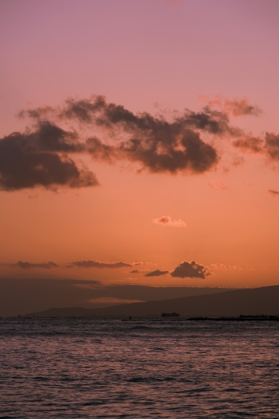 clouds over the sea waikiki