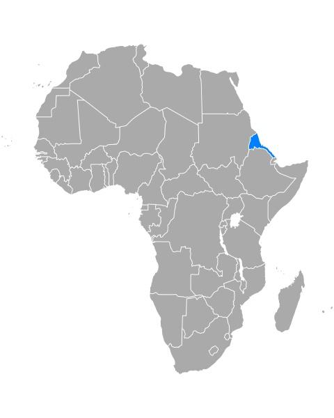 map of eritrea in africa