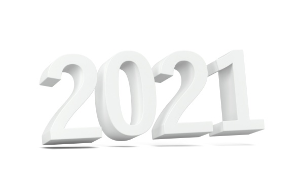 2021 text new year sign