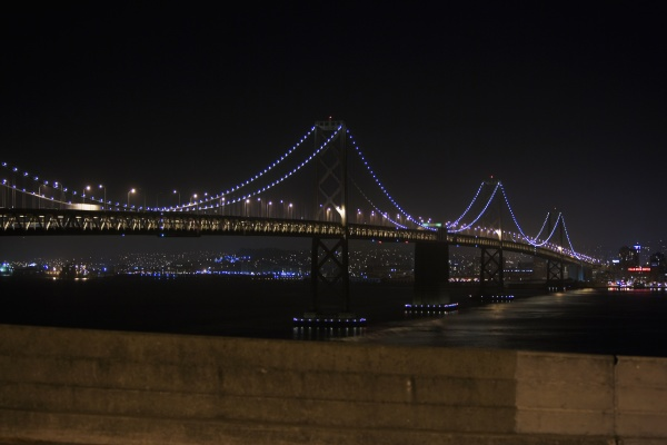 illuminated bridge at night golden gate