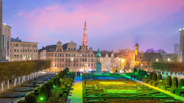 brussels cityscape from monts des arts