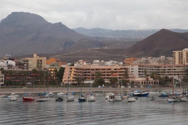 coast and city of los cristianos