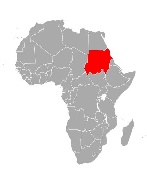 map of sudan in africa