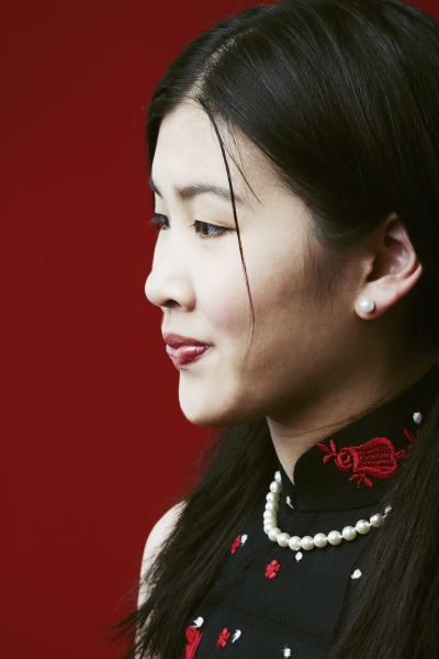 side profile of a young woman