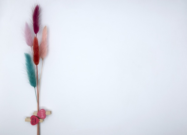 multicolored spikelets with hearts