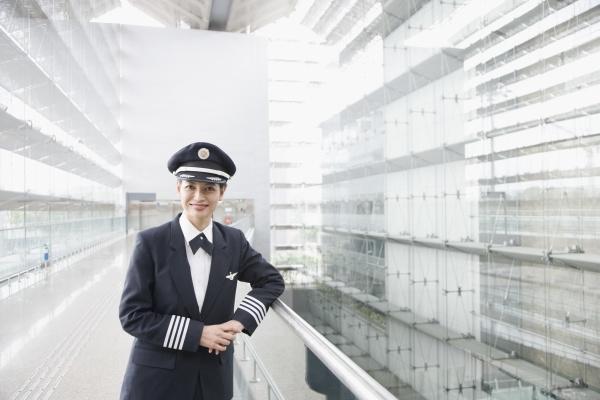 portrait of a female pilot smiling