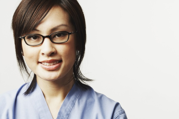 portrait of a female doctor smiling