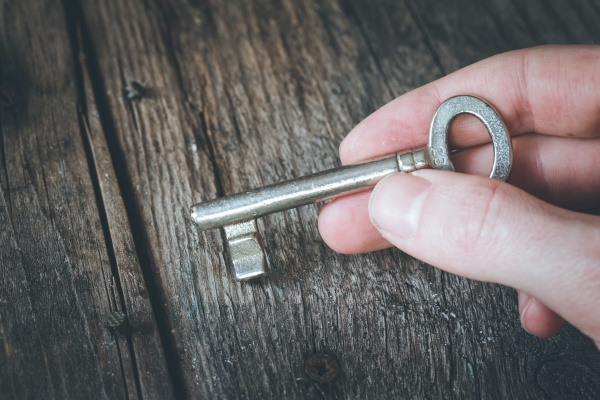 inheritance concept old key in a