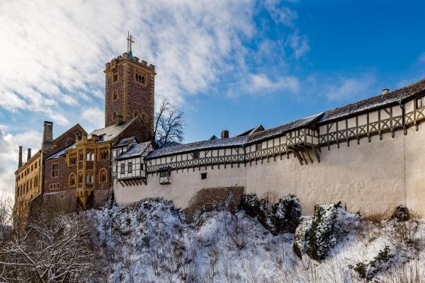 the wartburg castle at eisenach in
