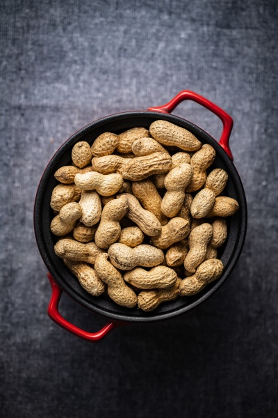 roasted peanuts tasty groundnuts in pot