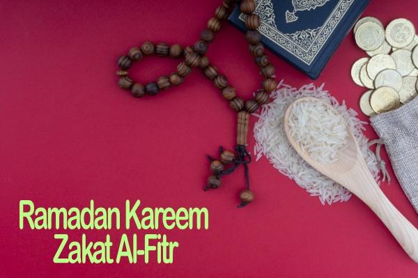 ramadan kareem zakat al fitr words