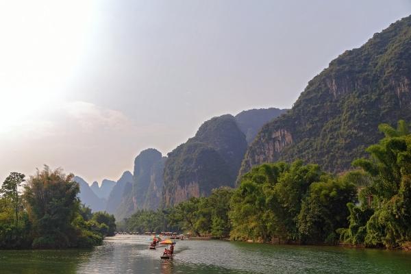 picturesque mountain valleys of yangshuo