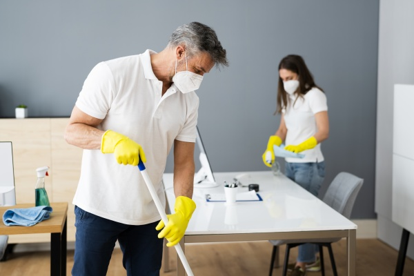 cleaning service janitor cleaner with mop