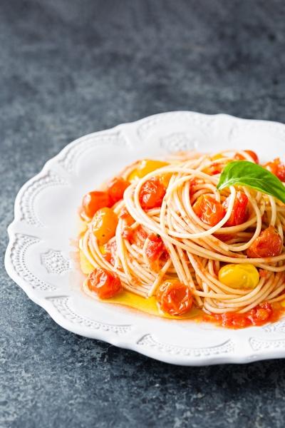 rustic italian cherry tomato spaghetti pasta