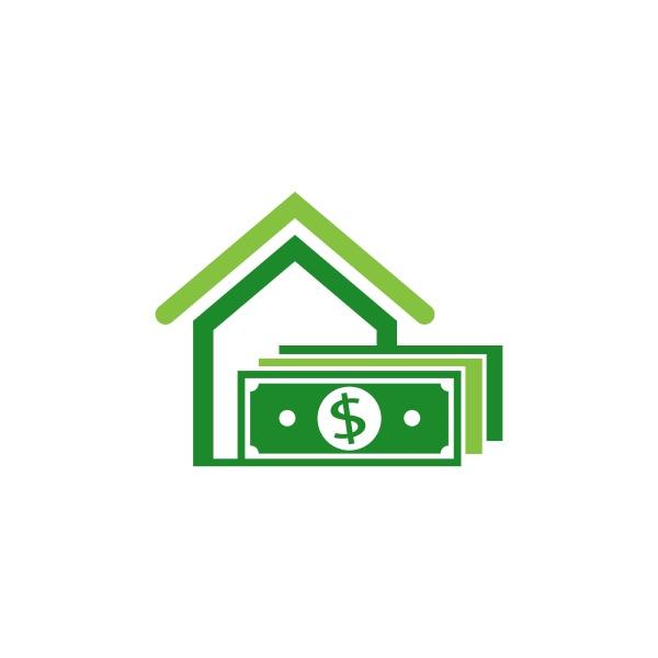 home cash logo icon design vector