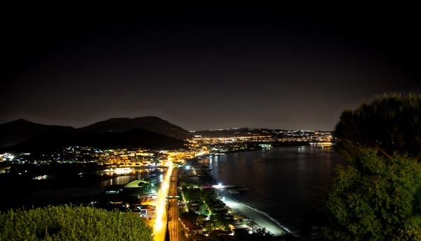 night view of baia bay pozzuoli