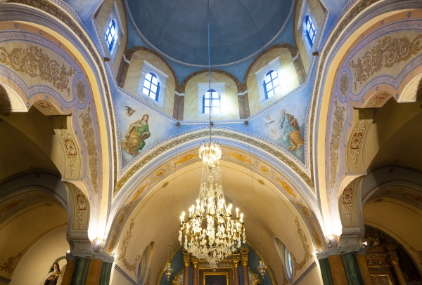 interior of the roman catholic cathedral