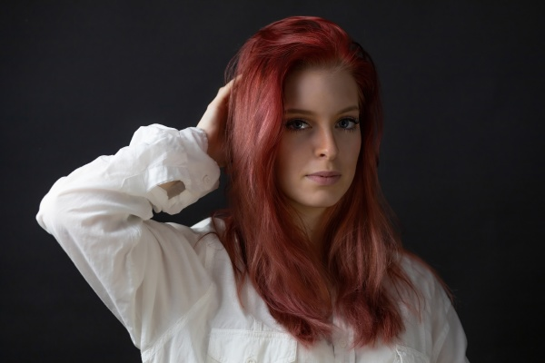 portrait of beautiful redhead young woman