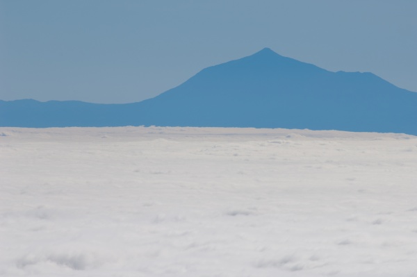 sea of clouds and island of