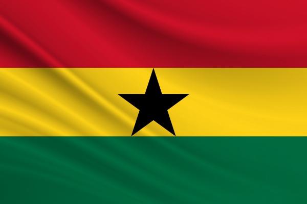 flag of ghana fabric texture of