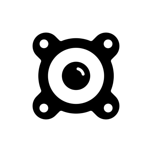 acoustic speaker vector flat glyph icon