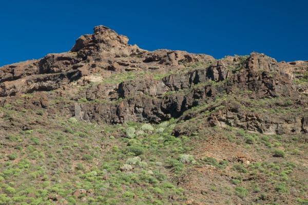 cliff in the arguineguin ravine gran