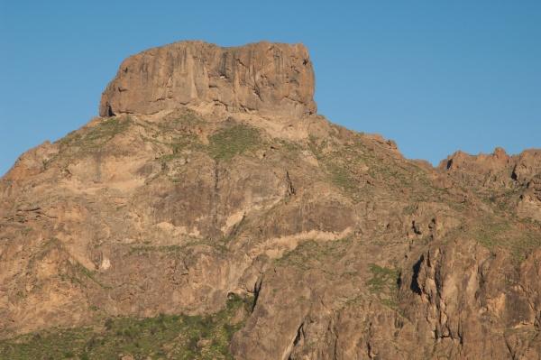 cliff over the soria dam