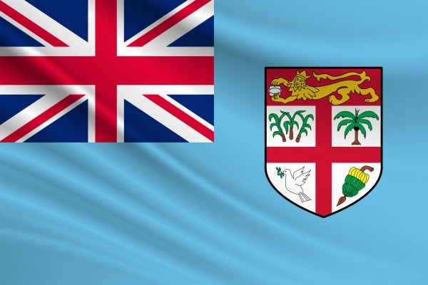 flag of fiji fabric texture