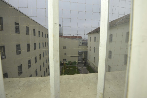 prison window with bars
