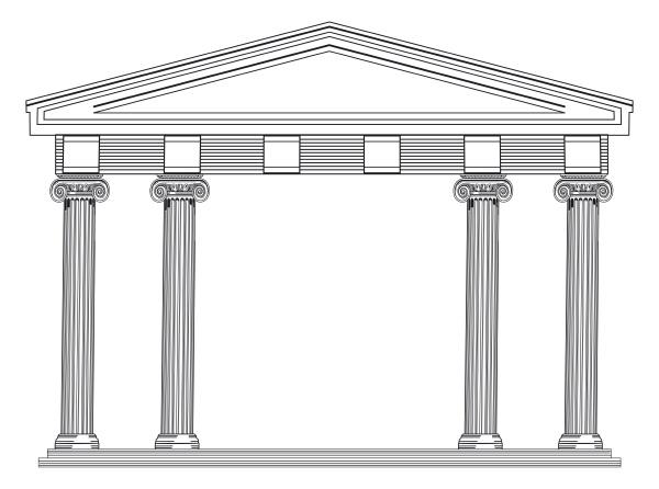 architectural columns greek and roman classics