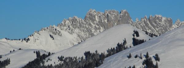 gastlosen in winter rugged mountains