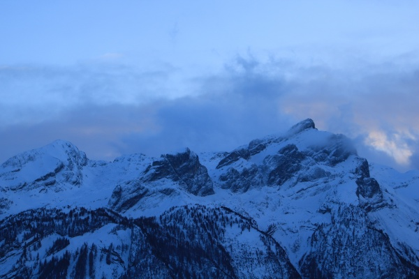 schlauchhorn and other mountains seen from