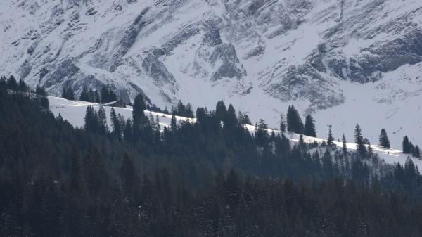rural winter landscape near gstaad swiss