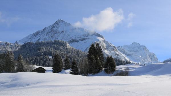 mount spitzhorn on a december day