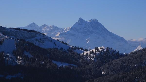 dents du midi high mountain range