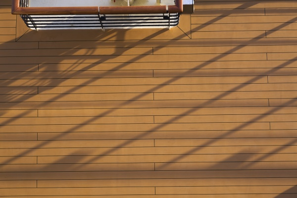 top view of wood plank deck