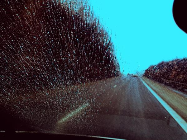 rain drops on the car windshield